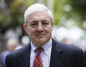 In this June 2, 2017, file photo, former Penn State President Graham Spanier departs after his sentencing hearing at the Dauphin County Courthouse in Harrisburg, Pa. (AP Photo/Matt Rourke, File)