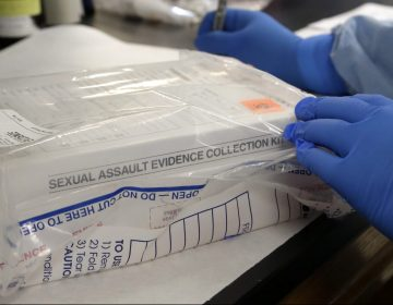 A sexual assault evidence kit is logged in in the biology lab at the Houston Forensic Science Center Thursday, April 2, 2015, in Houston. (Pat Sullivan/AP Photo)