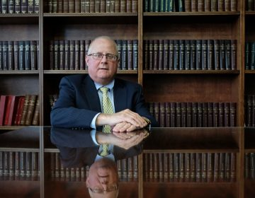 Berks County District Attorney John T. Adams in his office in Reading, Pennsylvania. (Matt Smith for Keystone Crossroads)
