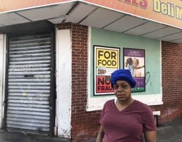 Aamirah Brown said the operators of Bill's Deli Mart should better control crowds after six people were shot outside the market Sunday. (Cris Barrish/WHYY)