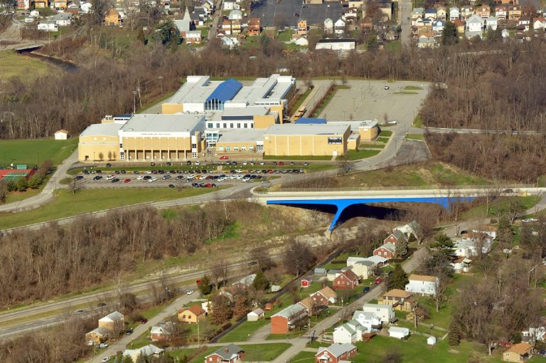 Canon-McMillan High School in Washington County. (Courtesy of Marcellus Air)