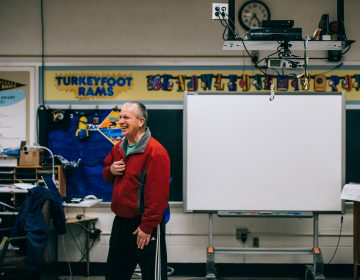 Jody Gary teaches sixth grade for the Turkeyfoot School District. He has started there in 1992 with a salary of $18,500. (Dani Fresh/Keystone Crossroads)