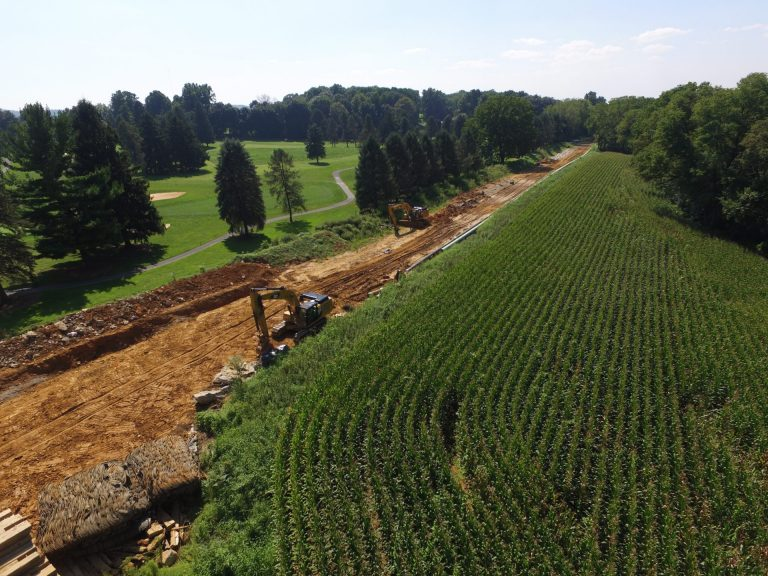 Mariner East 2 pipeline construction in Lebanon County August 24, 2018 (Marie Cusick/StateImpact Pennsylvania)