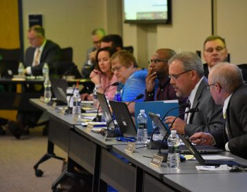Members of the Eastern Lancaster County school board voted on a new student privacy policy on April 15, 2019. (Ed Mahon/PA Post)