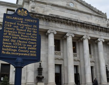 The Delaware County courthouse in Media, Pennsylvania, is seen on April 11, 2019. In the county in 2017, there were 206 protection-from-abuse cases that ended with a stipulation or agreement between the parties, 187 final orders granted after a hearing before a judge, and 147 final orders denied after a hearing before a judge. (Ed Mahon/PA Post)