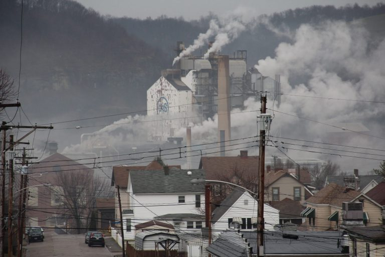 U.S. Steel's Clairton Plant, the largest coke works in North America, in Clairton, Pa. (Reid Frazier/StateImpact Pennsylvania)
