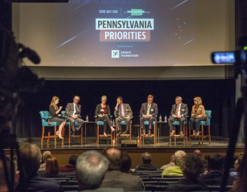 Panelists discussed potential solutions to the rural broadband crisis as a part of the Influencers Project hosted by the Centre Daily Times at the State Theatre on April 24, 2019. (Min Xian/WPSU)