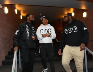 Lincoln University students Joseph Purnell, Jeremiah Johnson, and Christian Harris talk about why they chose to attend the historically black college. All three students are members of Groove Phi Groove Inc. (Abdul R. Sulayman/The Philadelphia Tribune)