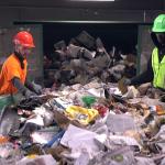 Recycling at J.P. Mascaro & Sons in Birdsboro, Pa. (Kimberly Paynter/WHYY)