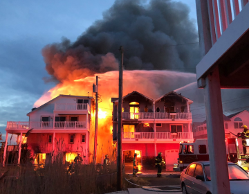 A fire broke out in Sea Isle City early Sunday morning. ‏(@JoeStarbux/Twitter)