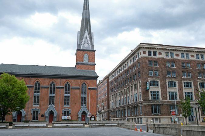 A church and YMCA on Washington Street in Reading, Pennsylvania. (Matt Smith for Keystone Crossroads)