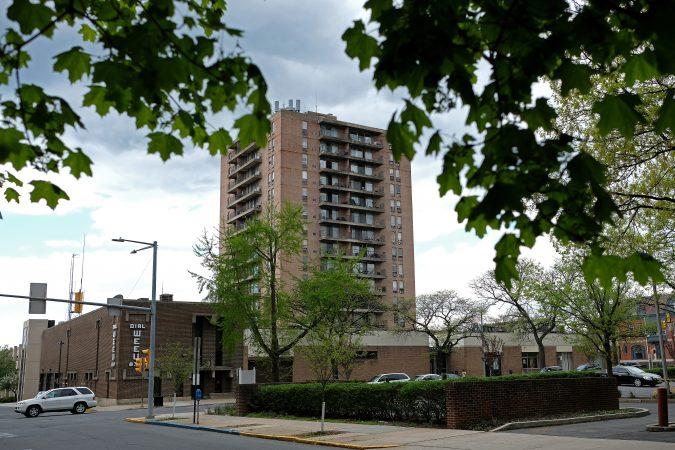 The Washington Towers apartment building in Reading, Pennsylvania. (Matt Smith for Keystone Crossroads)