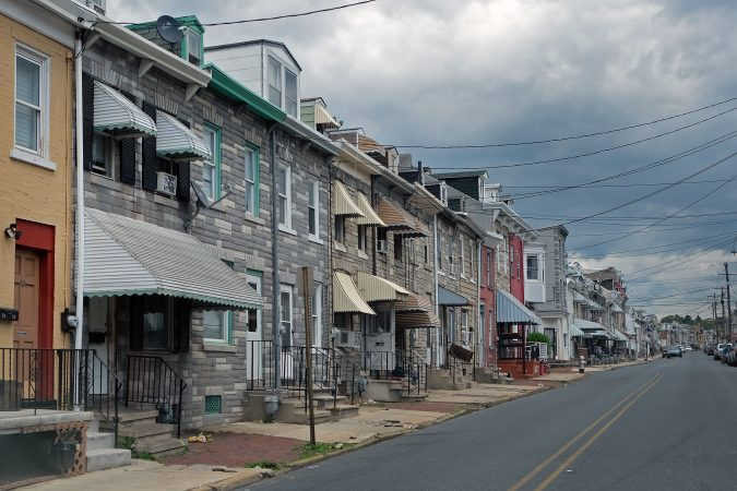 A look at the 1200 block of Cotton Street in Reading, Pennsylvania. (Matt Smith for Keystone Crossroads)