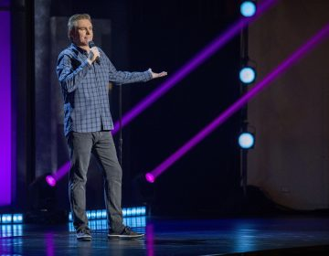 The comedian Brian Regan, pictured here in his Netflix special Nunchucks and Flamethrowers, has earned a reputation as a comic's comic. (Jeffery Garland/Netflix)