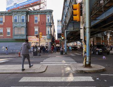 Outside Allegheny Station in the Kensington section of Philadelphia. (Natalie Piserchio for NPR)