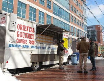 Temple University's main campus is home to many food trucks. (Kimberly Paynter/WHYY)