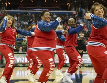 Wizdom dancers perform at the Capitol One Arena in Washington, D.C. (Olivia Sun/NPR)