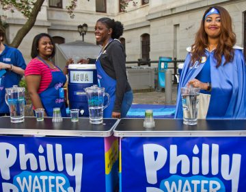 The Philadelphia Water Bar will be open at City Hall every Thursday this summer. (Kimberly Paynter/WHYY)