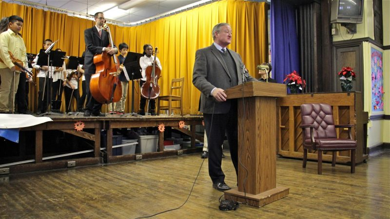 Kenney launched his community schools initiative in 2016 at an event at Southwark School in South Philadelphia. It was one of nine schools chosen that year. (Emma Lee/WHYY)