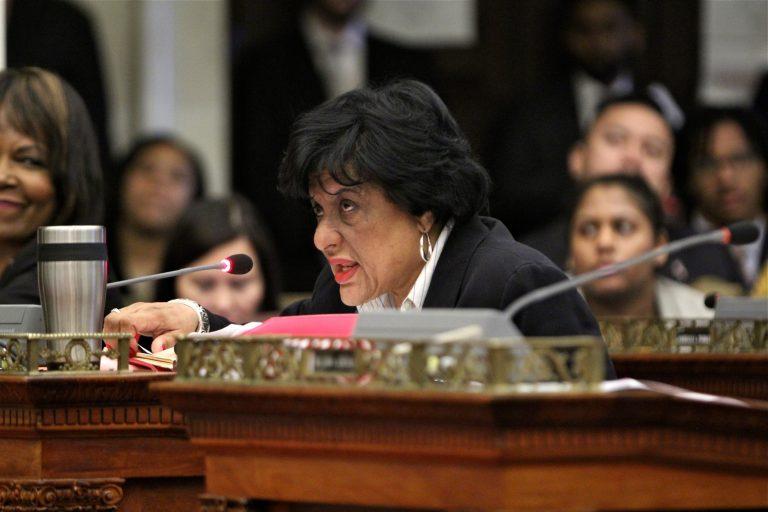 Philadelphia City Councilwoman Jannie Blackwell. (Emma Lee/WHYY)