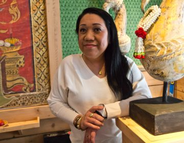 Chatayee Venus Kapugthong at her restaurant Chatayee Thai in Center City. (Kimberly Paynter/WHYY)