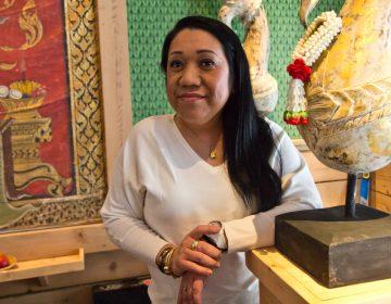 Chatayee Venus Kapugthong at her restaurant ChatayeeThai in Center City. (Kimberly Paynter/WHYY)