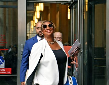 Former Philadelphia City Representative Desiree Peterkin Bell leaves the Criminal Justice Center after pleading guilty to corruption charges