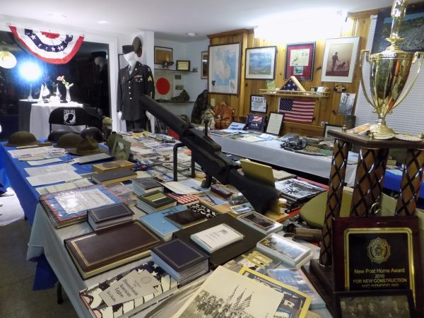 American Legion Post in Langhorne, Pa., is loaded with memorabilia. (Ximena Conde/WHYY)