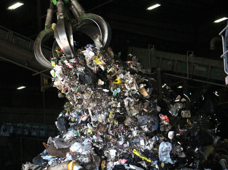 At Continuus Material Recovery in Northeast Philadelphia, machines sort through trash to find the plastic materials that are used to make fuel pellets. (Emma Lee/WHYY)