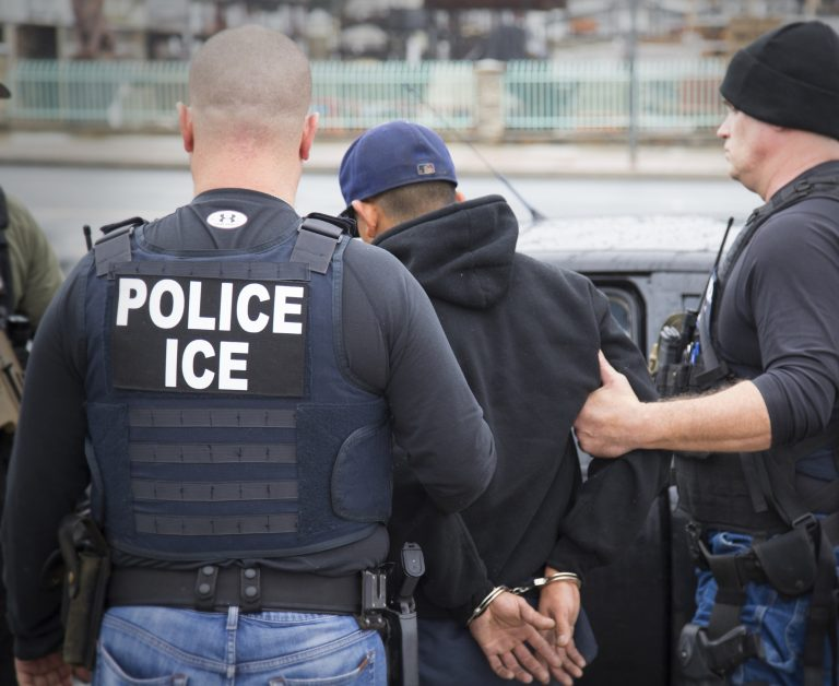 New guidelines issued by New Jersey Supreme Court will make it more difficult for federal immigration officers to make arrests at courthouses in the state.(Charles Reed/U.S. Immigration and Customs Enforcement via AP)