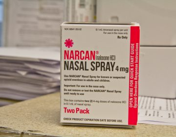 Naloxone, an opioid overdose reversal drug commonly known by its brand name, Narcan. (Kimberly Paynter/WHYY)