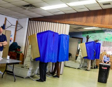 Voters cast their ballots at Fishtown Recreation Center Tuesday morning during the 2019 primary election. (Brad Larrison for WHYY)