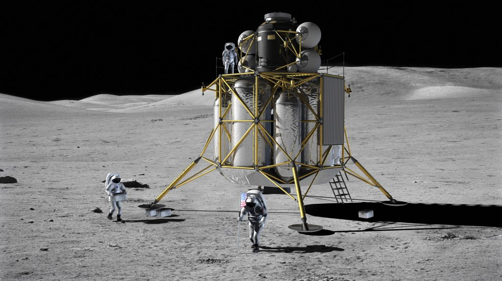 An artist's rendering of the Altair lunar lander for the Constellation program. Image credit: NASA