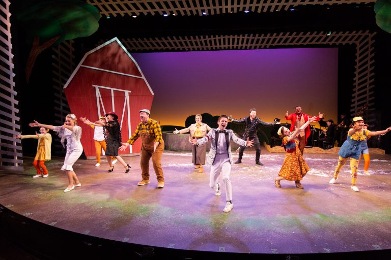 "Delaware Theatre Company's 2019 production of ""Honk! The Ugly Duckling Musical."" (Courtesy of Matt Urban)"