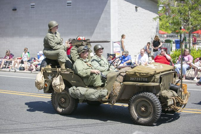 Glassboro commemorates fallen service members by hosting a memorial day parade. The parade began more than 100-years ago. (Miguel Martinez/WHYY)