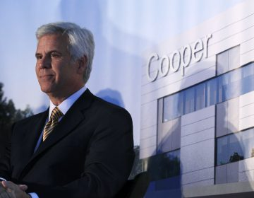 George Norcross III during a groundbreaking ceremony for the Cooper Cancer Institute. (Mel Evans/AP Photo)