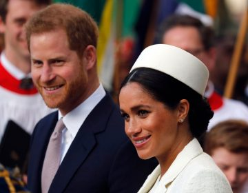 Meghan Markle, the Duchess of Sussex and Britain's Prince Harry leave after attending the Commonwealth Service at Westminster Abbey on Commonwealth Day in London, Monday, March 11, 2019. (AP Photo/Frank Augstein)