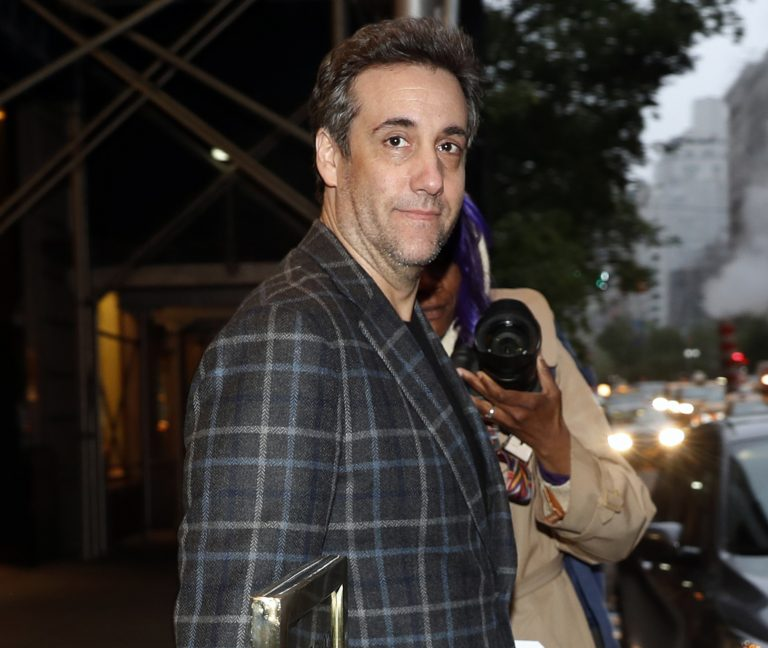 Michael Cohen, Donald Trump's former personal attorney, leaves his apartment, Friday, May 3, 2019, in New York. Cohen is scheduled to report to the Otisville Federal Correctional Facility in upstate New York on Monday to begin serving his three year prison term for tax evasion, lying to Congress and campaign finance crimes. (Kathy Willens/AP Photo)
