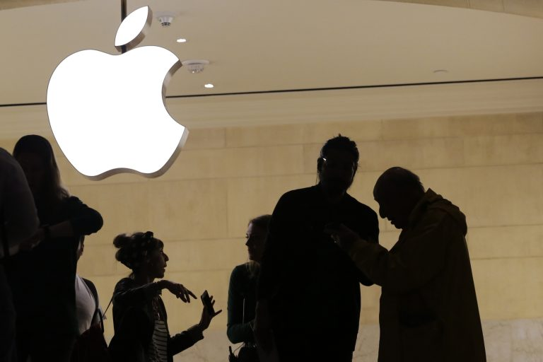 In this May 31, 2018, file photo customers enter the Apple store in New York. The Supreme Court is allowing consumers to pursue an antitrust lawsuit that claims Apple has unfairly monopolized the market for the sale of iPhone apps. (Mark Lennihan/AP Photo)