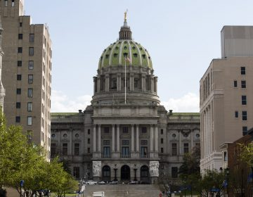 Shown is the Pennsylvania Capitol in Harrisburg, Pa. on the Wednesday, April 10, 2019. (Matt Rourke/AP Photo)