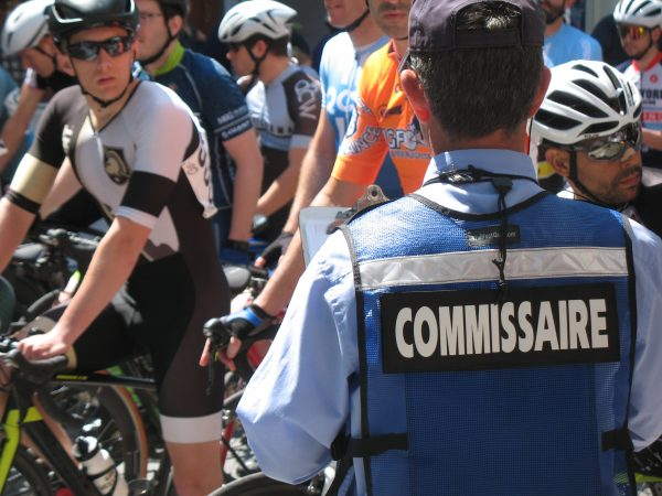 Riders ready at the starting line during the Wilmington Grand Prix on Saturday (John Mussoni/WHYY)