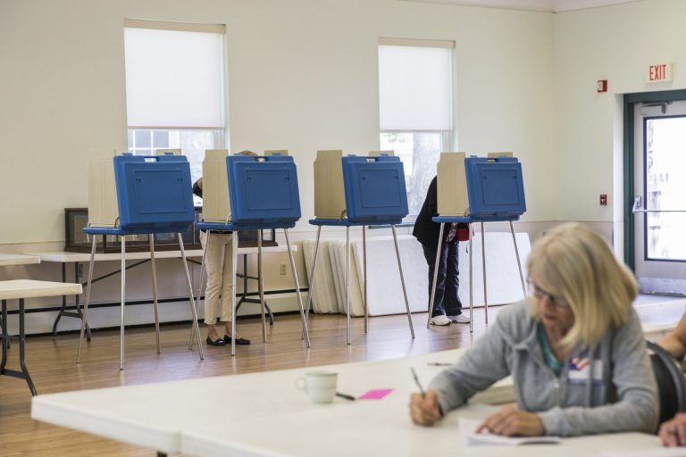 Centre County introduced new Electronic Systems & Software voting machines in the primary on May 21, 2019. (Min Xian/WPSU)