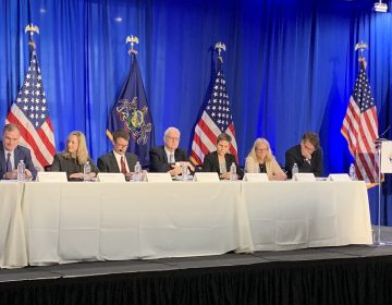 A panel discussion convened by the Consumer Financial Protection Bureau discussed the changes to the U.S. debt collection process at the University of Pennsylvania. Consumer advocates and creditors have concerns. (Aaron Moselle/WHYY)