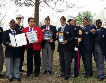 A trio of veterans groups — the Latin American Legion Post 840, Auxiliary Unit 840 and Friends of the Medal of Honor Grove — hosted a rededication ceremony at the Grove on Sunday.  (photo provided by Freedoms Foundation at Valley Forge)
