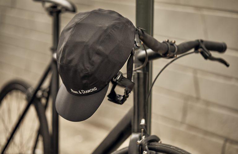 Park & Diamond's new foldable, portable bicycle helmet. (Courtesy of Park & Diamond)