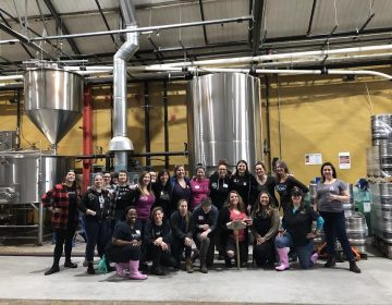 Members of the Philadelphia Pink Boots Society at Love City Brewing working on a collaborative brew. (PUNCH Media)