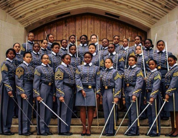 United States Military Academy at West Point is graduating its largest class of black women (Courtesy Hallie Pound)