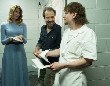 Laura Dern, Ed Zwick, Jack O'Connell on the set of