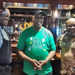 From left, Chefs Elijah Milligan, Carl Lewis, and Yusef McCoy at the Black Restaurant Week 2019 preview event held at Drexel University's Academic Bistro on May 20. (TrenaeNuri/WHYY)