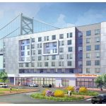 A rendering of the Hilton Garden Inn in Camden, which is scheduled for completion by the end of 2020. (Courtesy of Camden County)